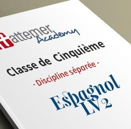 5e - Espagnol LV2  inclus 3 séances de visio / trimestre