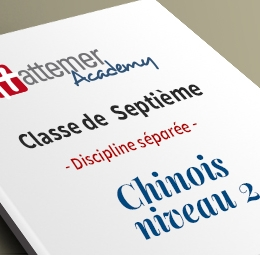 7e - Chinois Niveau 2  - inclus 10 séances de visio / trimestre