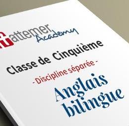 5e - Anglais bilingue  inclus 10  séances de visio / trimestre